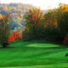 A view of the 7th green at Milestone Golf Club.
