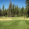 A sunny day view from a tee at Feather River Inn Golf Club & Resort.
