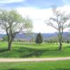 A fresh spring day view of a hole at Salida Golf Club.