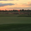 A sunset view of a hole at Desert Canyon Golf Course.