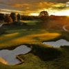 Sunset view of the 16th hole at TPC Potomac at Avenel Farm