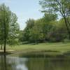 A view over a pond at Glynns Creek Golf Course.