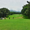 A view from a tee at New Tamsui Golf Club.
