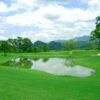 A view over a pond at Wu Fong Golf Course.