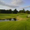 A view of the 18-hole pond at Tomahawk from Natanis Golf Course and Arrowhead tee #10 in the distance.