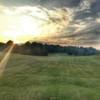 A sunset view of a fairway at Andrew Johnson Golf Club.