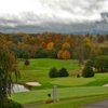 A splendid fall day view of a well protected green at Draper Valley Golf Club.