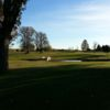 A fall day view of a fairway at Tagalong Golf Course.