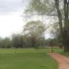 A view of a tee at MoundView Golf Course.