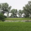 A view of a green at Airport Golf Course.