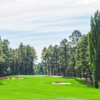 A view of a hole flanked by bunkers at Pinetop Country Club.