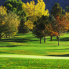 A fall day view of a hole at Hidden Valley Country Club.