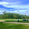 A view of a fairway at Hawk Pointe Golf Course.