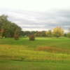 A fall day view of a hole at Fore-Way Golf Course.