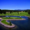 A view of the 18th green at Crystal Lakes Golf Course.