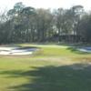 The 18-th green at Pablo Creek Club