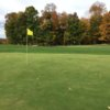 A view of two greens at Woodbury Golf Course.