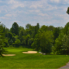 A view of a tee at Hope Valley Golf Course.