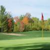 An autumn view of the 2nd hole at Lake Superior View Golf Course.