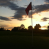 A sunset view of a hole at Galaway Creek Golf Course.
