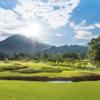 A sunny day view from Chatrium Golf Resort Soi Dao Chanthaburi.