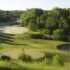 A view of a tee and a fairway at Green Bay Country Club.
