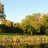 A fall day view of a fairway at Minnehaha Country Club.
