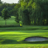 A view of a well protected green at Abbey Hill Golf Centre.