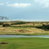 A view of a tee at Barton-on-Sea Golf Club