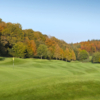 A fall day view of a green at Long Ashton Golf Club.