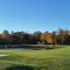 A splendid fall day view of a hole at Cross Creek Golf Club.