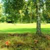 A sunny day view of a hole at Leighton Buzzard Golf Club.
