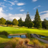 A view over a pond at Wairakei International Golf Course.