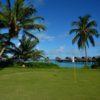 A view of a hole at Villingili Golf Course from Shangri-La Villingili Resort & Spa.