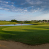 A view of a green at Cams Hall Estate Golf Club.