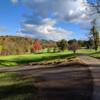 A splendid fall day view of a green at Valley Brook Country Club.