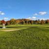 A view of a green at Valley Brook Country Club.