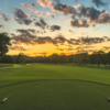 A sunset view from a tee at Country Club of Virginia.