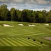 A view of a tee at Blue from Le Club Laval-Sur-Le-Lac.