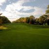 A fall day view of a green at Plymouth Country Club.