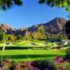 View of the 16th hole from the Celebrity Course at Indian Wells Golf Resort