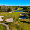 Aerial view of the 6th green from Crescent Oaks Country Club