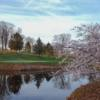 An early spring day view of a green at Baltimore Country Club.
