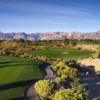 A view of hole #10 with Red Rock Canyon in the background from Mountain at Angel Park Golf Club.