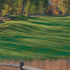 A fall day view of a fairway at Weston Golf Club.