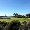 A sunny day view of a hole at Balboa Park Golf Club.