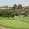 A sunny day view of a hole at Balboa Park Golf Club