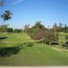 A view of a tee at La Mirada Golf Club.