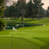 A view of hole #18 at Heartwell Golf Course.