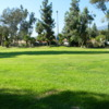 A view of green #2 at Rancho Duarte Golf Club.